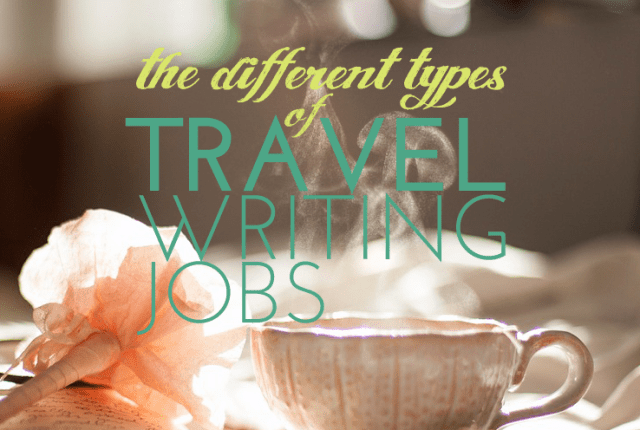 different types of travel writing jobs