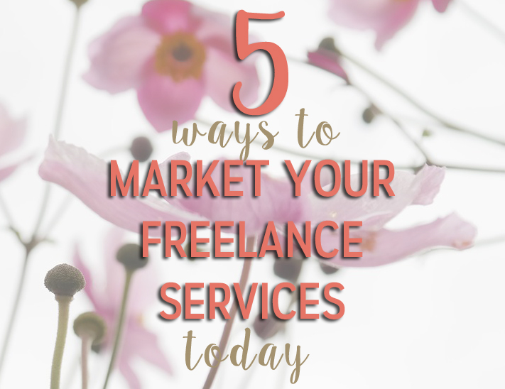 market your freelance services