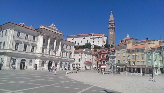 Piran square, Slovenia