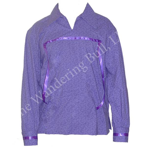 Classic Ribbon Shirt Purple Size Large - The Wandering Bull