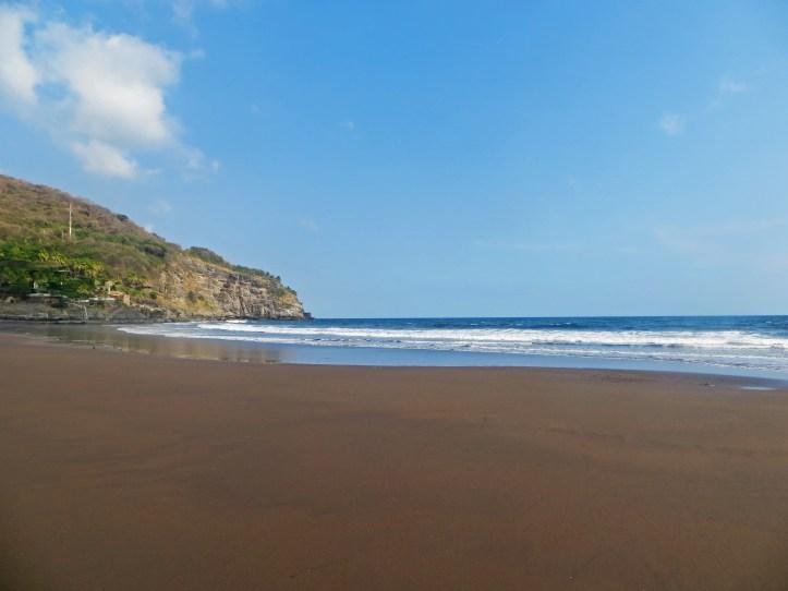 quiet beach in central america