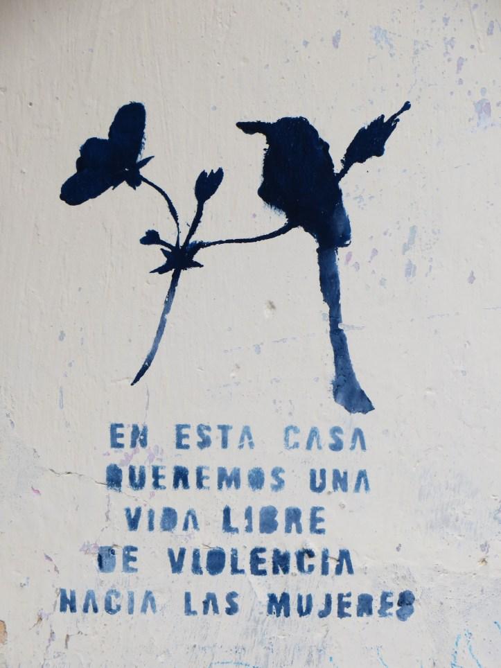 Anti domestic violence sign, Suchitoto