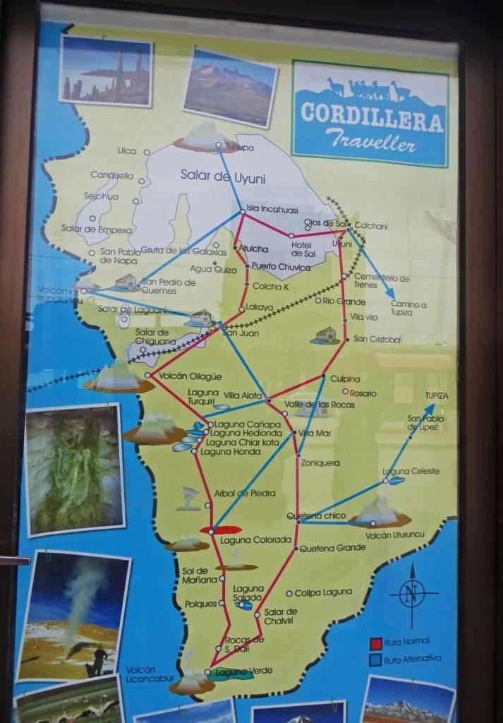 Map Salar de Uyuni