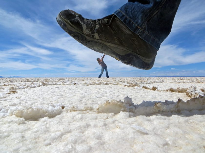 Salar de uyuni perspective photography