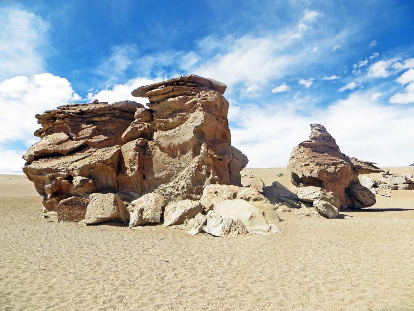 Rock formations salar de uyuni Bolivia