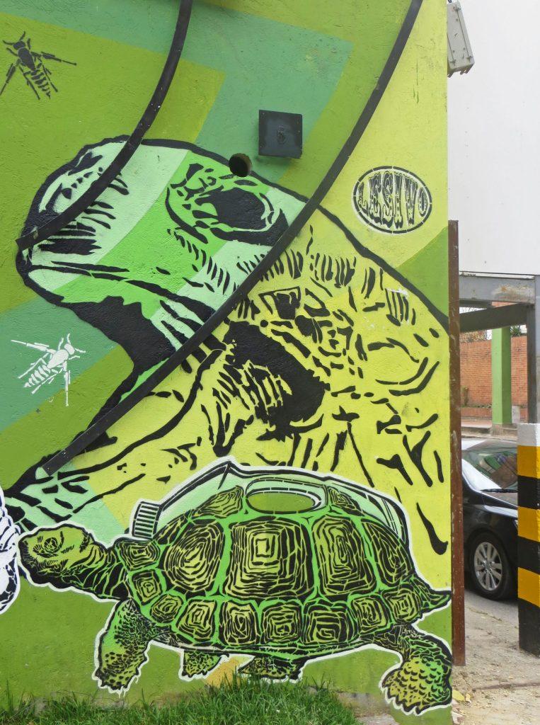 Bogota street art mural environment
