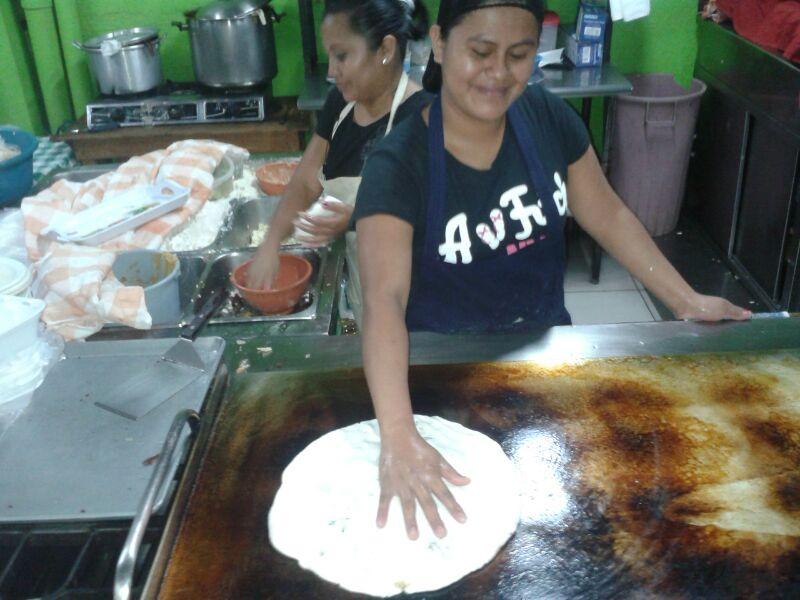 Pupusa loca El Salvador Vegetarian Latin American Food