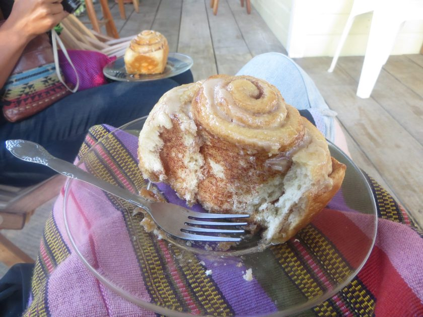 Cinnamon Roll Belize Vegetarian Latin American Food