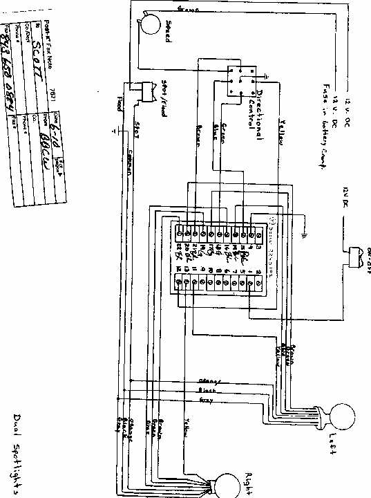 jabsco spotlight wiring diagram