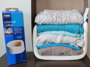 See how a soft cervical collar takes up no room at all in a suitcase!