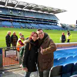 Bell & I at Croke Park after a Gaelic football game