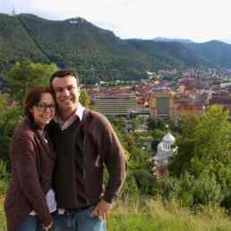 Brasov, Transylvania, Romania, romantic moment from above