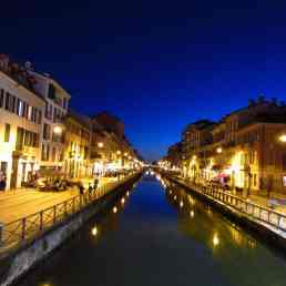 Romantic canals in Milan