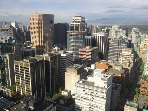 vancouver skyline from harbour centre