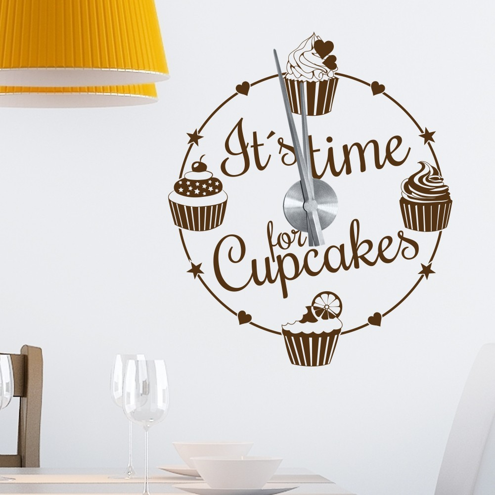 Wandtatoo Uhr Wandtattoo Uhr Its Time For Cupcakes