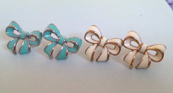 Earring trend bow earrings macarons and mischief for Forever 21 jewelry earrings