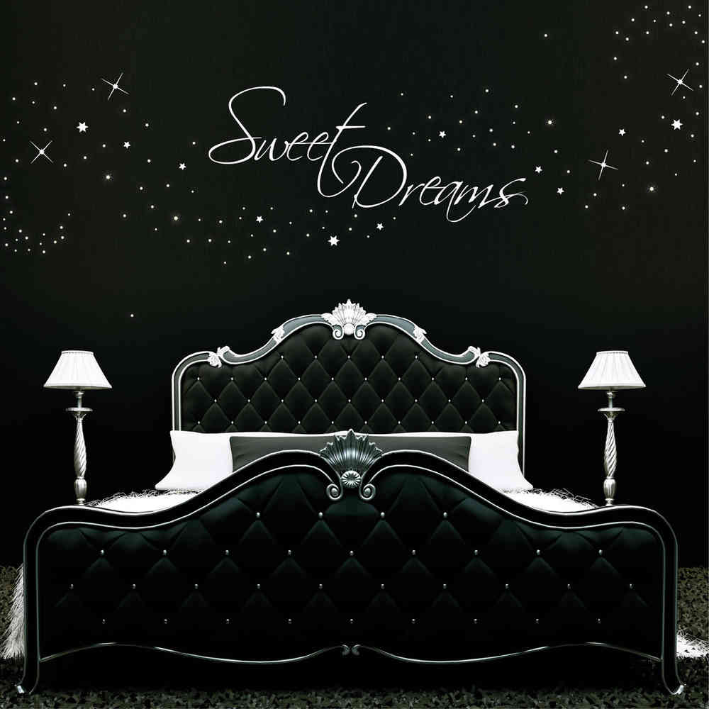 Wall Art Sweet Dreams 250 Stk Stars Dekor