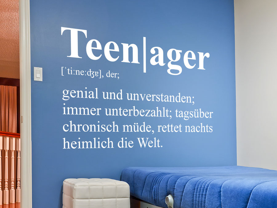 Kinderzimmer Wanddekoration Wandtattoo Teenager Definition | Wandtattoo.de