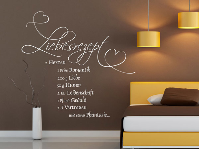 Wandtattoo Schlafzimmer Liebe