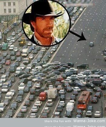 chuck norris on the road