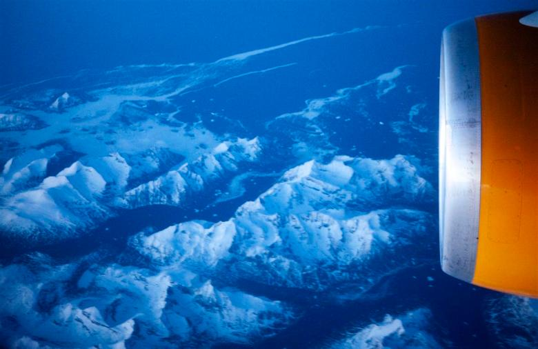 A glimpse of Greenland in early morning light.
