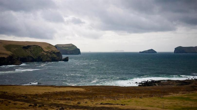 A view of the coast from Heimaey.