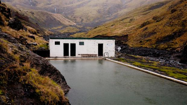Seljavallalaug swimming pool, one of Iceland's best-kept secret.