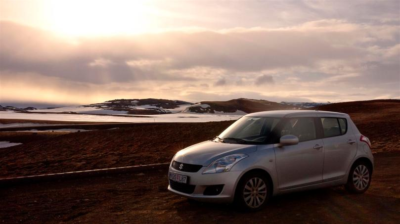 The little Suzuki Swift that took us around Iceland.
