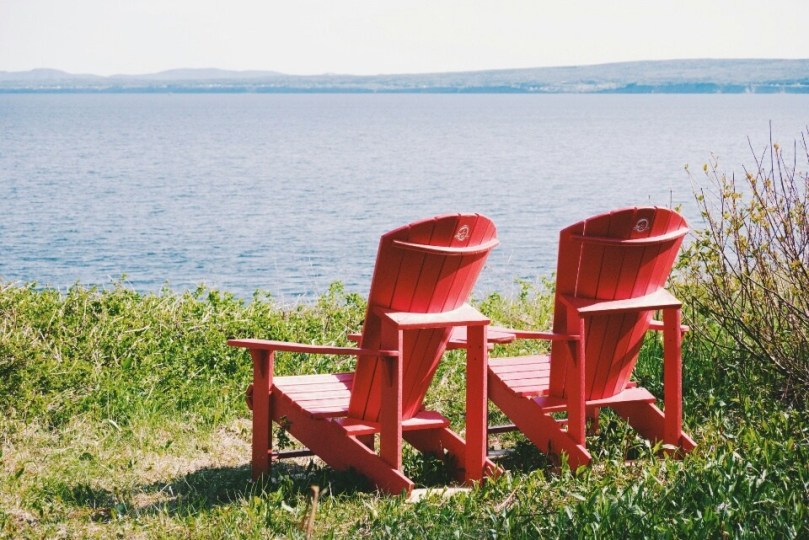 The elusive Parks Canada red chairs.