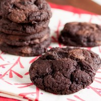 dark chocolate sour cherry cookies