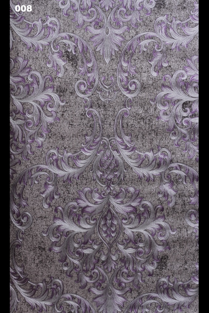 Grey Brick Wallpaper 3d Purple Grey Damask Wallpaper For Dining And Bedrooms