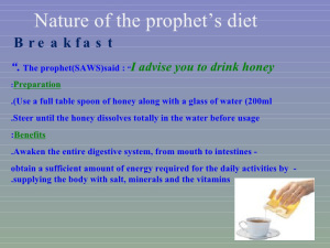 I Eat The Way Prophet Eats