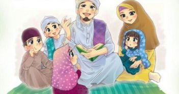 muslim family happy
