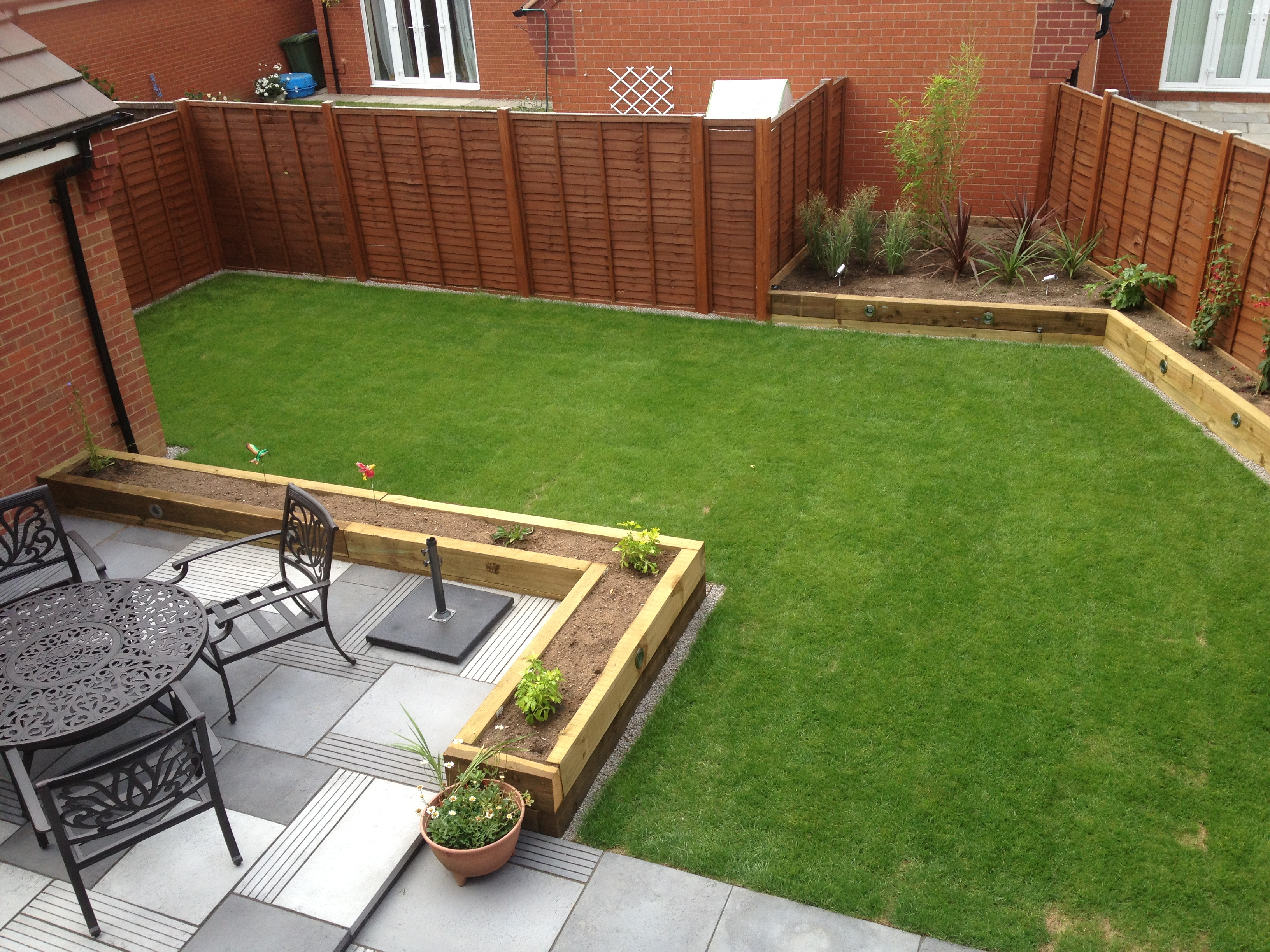 Using Railway Sleepers For Raised Vegetable Beds Paving Raised Sleeper Beds And Garden Lighting Wardens Fencing