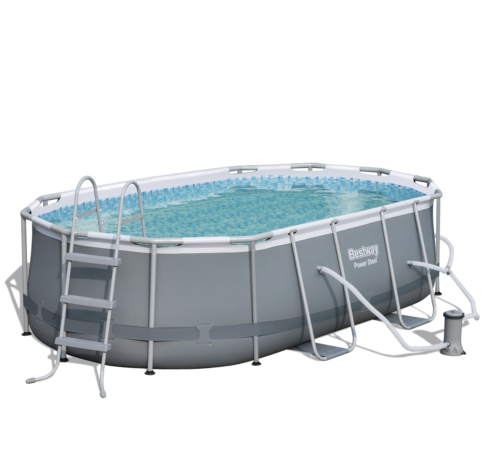 Bestway Pool Abdeckung Oval 14 39 Power Steel Frame Oval Pool By Bestway Montgomery Ward