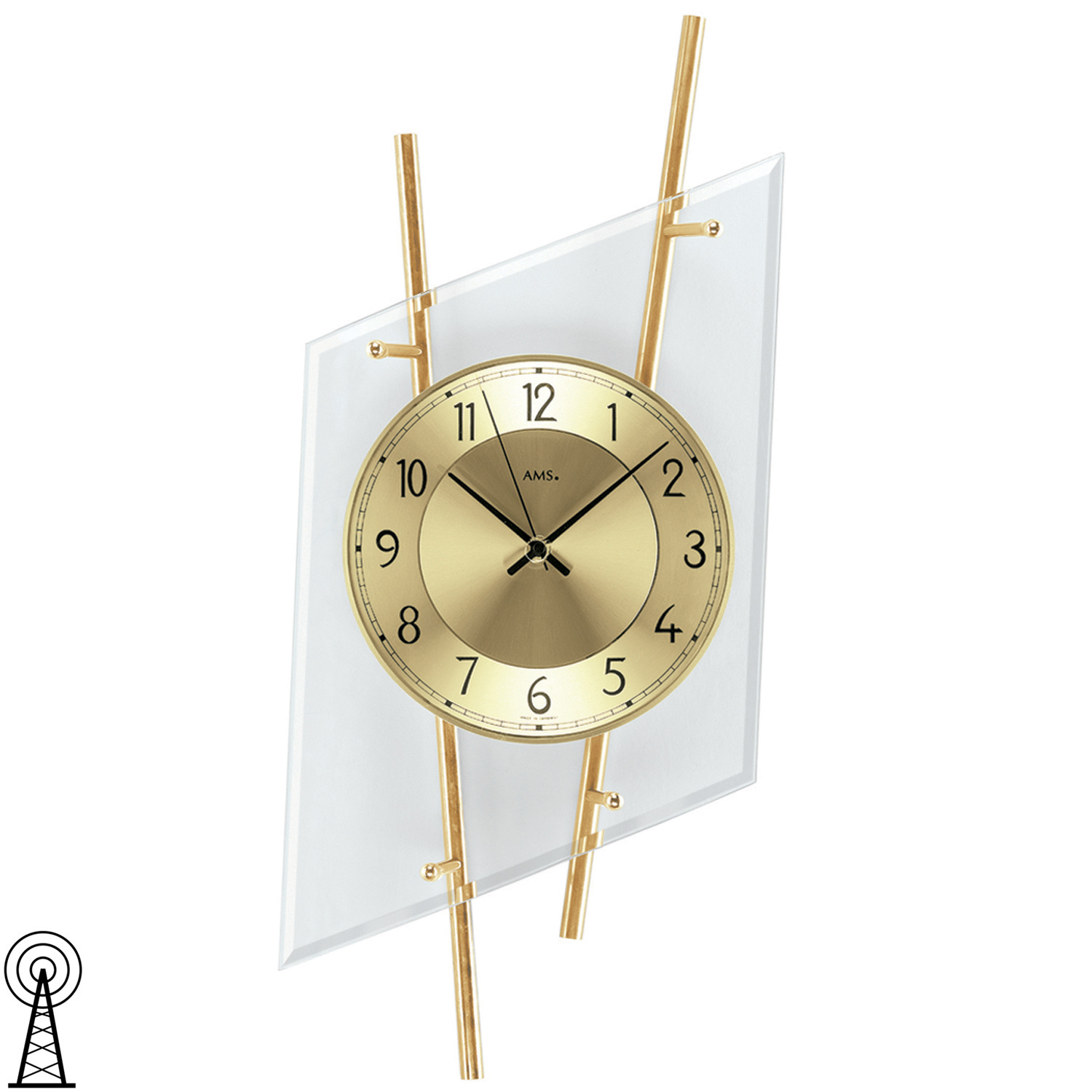 Ams Wanduhren Wohnzimmer Wanduhr Glas Great Wanduhr Glas Modern With Tittle And Home