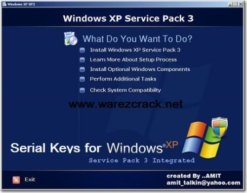 Windows XP Professional Sp3 Serial Keys Free Download