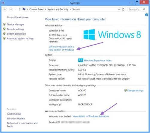 Windows 8 Serial Keys plus Keygen Full Version Free Download
