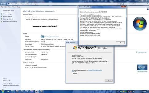 Windows 7 Ultimate 64 Bit Genuine Product Key Free