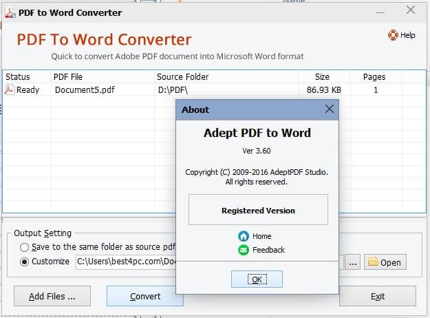 Download Free PDF to Word Doc Converter 11