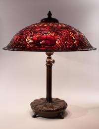 Vintage Reading Lamp. Tiffany Style Dragonfly Reading ...