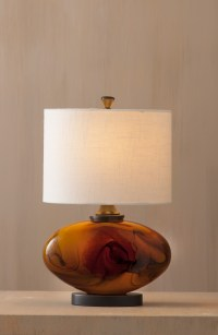 Amber glass lamps give your space warm and refreshing ...