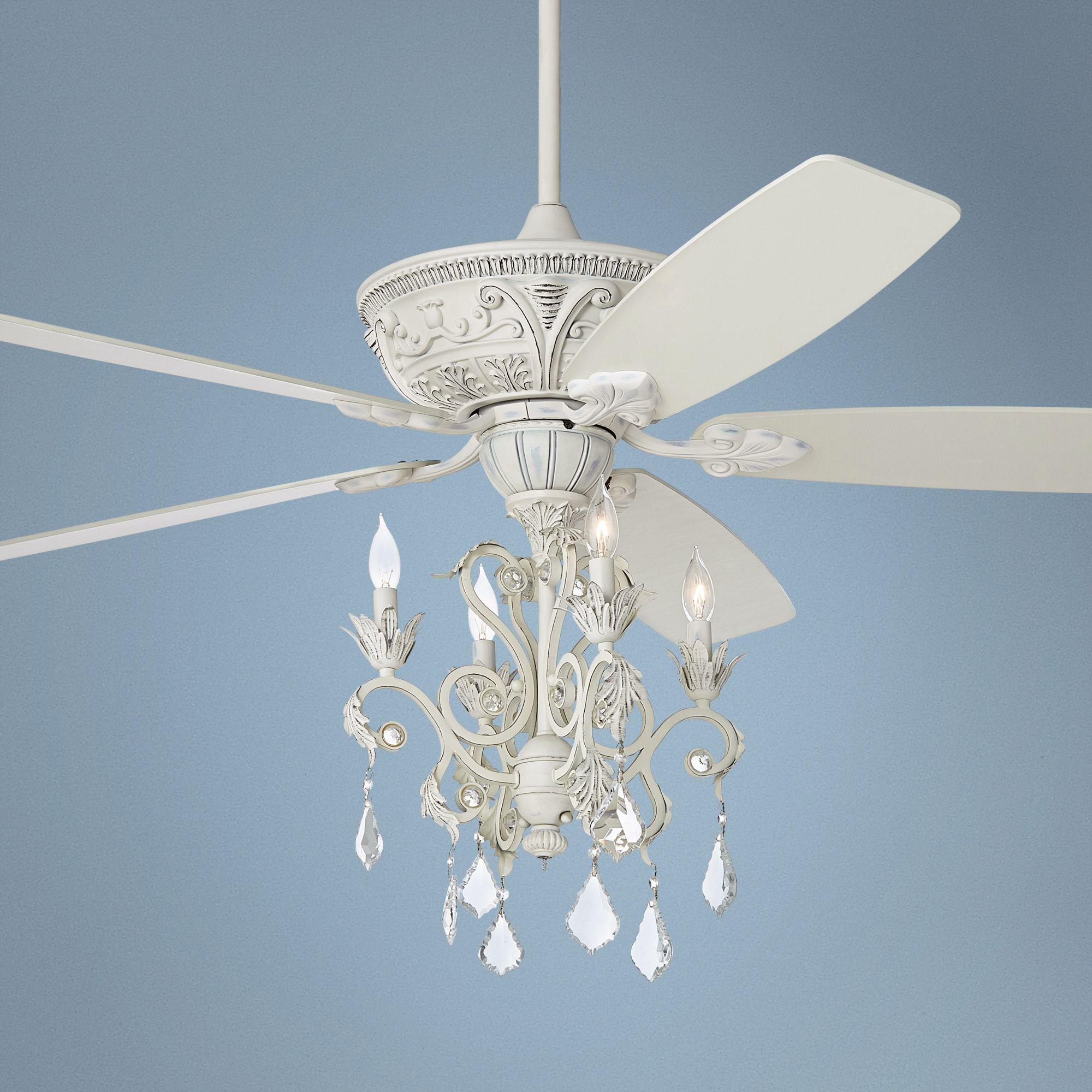 Crystal ceiling fan light