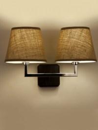 Fabric wall light shades