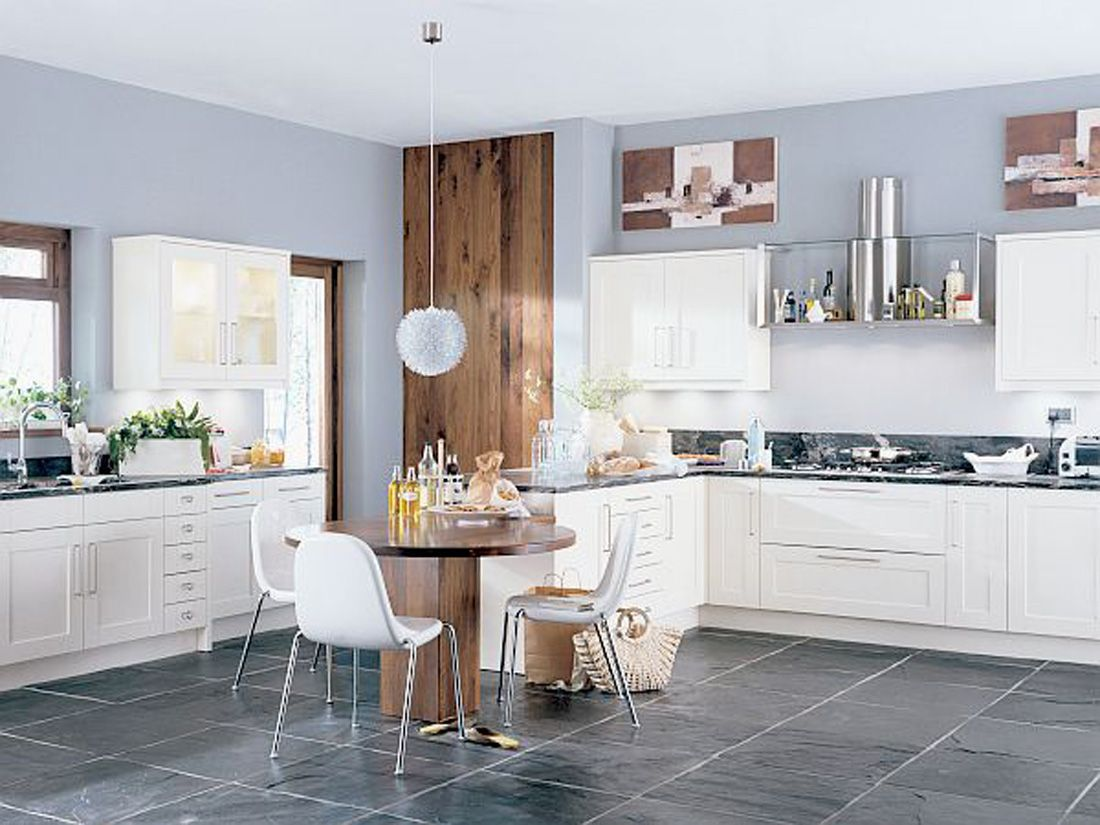 Grey Painted Kitchen Walls Light Up Your Kitchen And Add Decor Using Light Gray