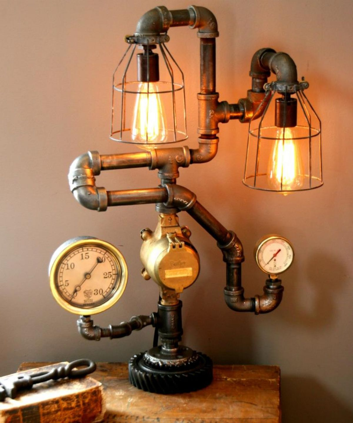 How To Build A Floor Lamp Steampunk Lamps 25 Ways To Add A Touch Of Vintage And
