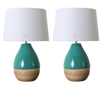 Teal lamps - 10 excellent solutions for a bedroom ...