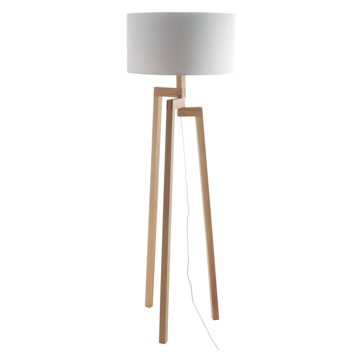 White Base Floor Lamp White Wooden Floor Lamp Feeling Of Symmetry And