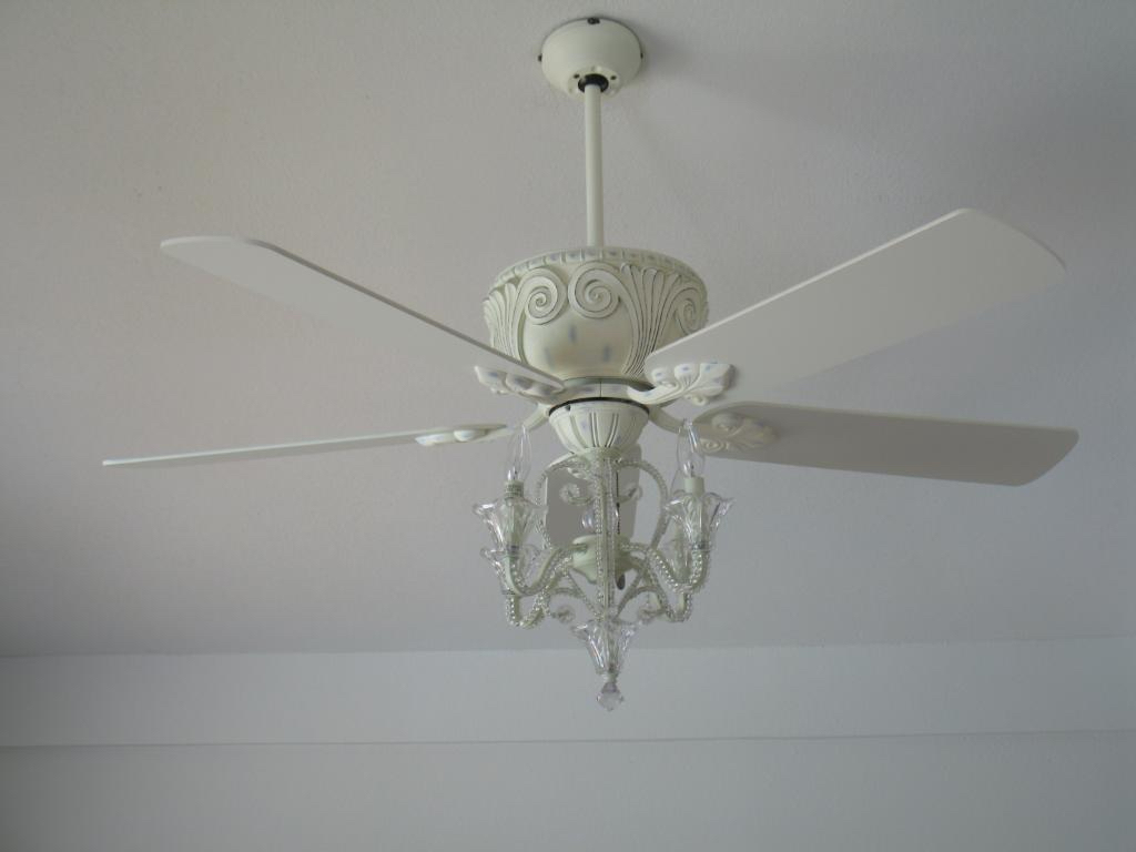 Antique White Ceiling Fan With Chandelier Ceiling Fan Crystal Chandelier Best Way To Make Your