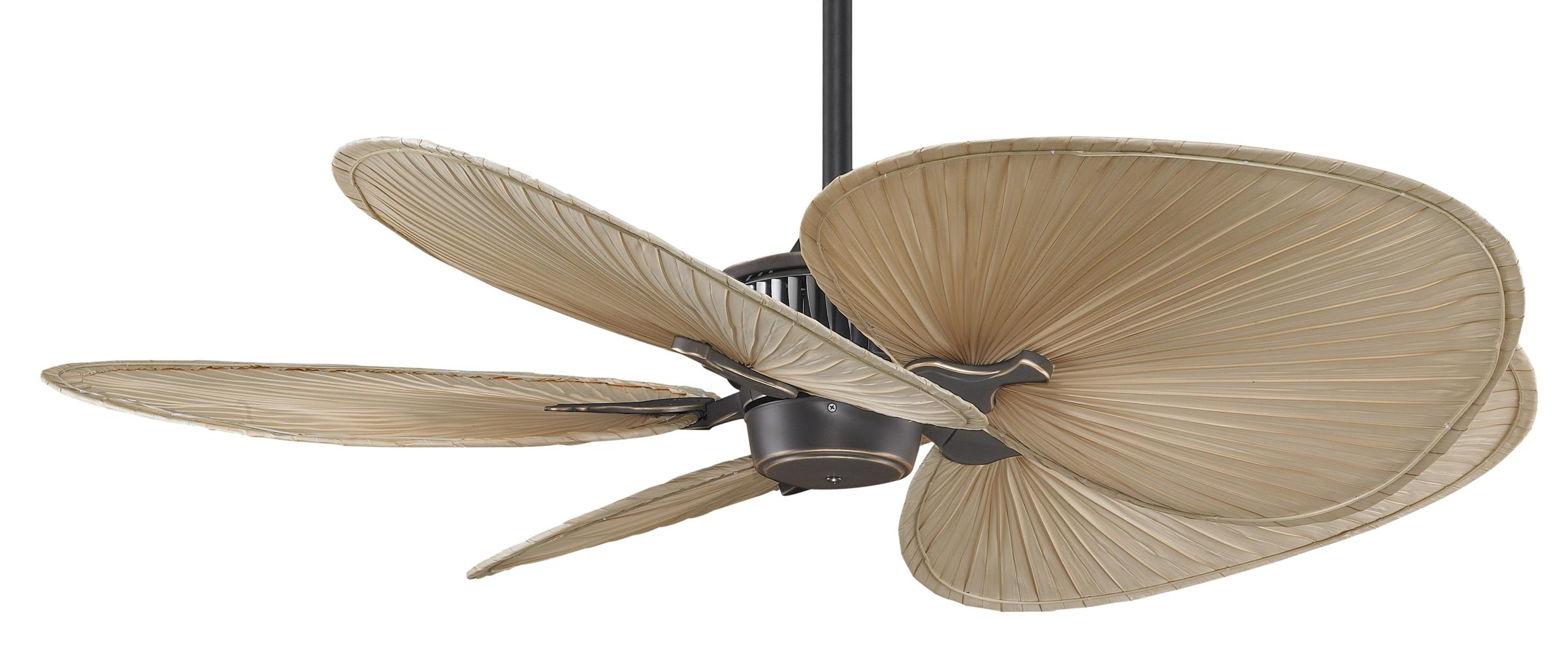 Palm frond ceiling fan